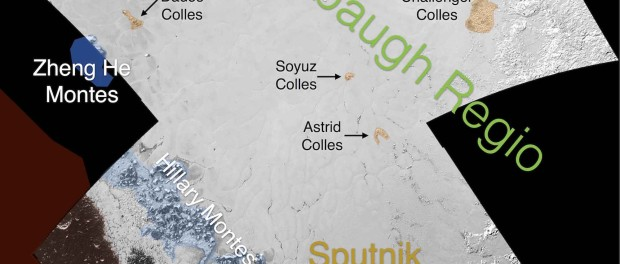 Détails de la région Tombaugh. Crédit NASA