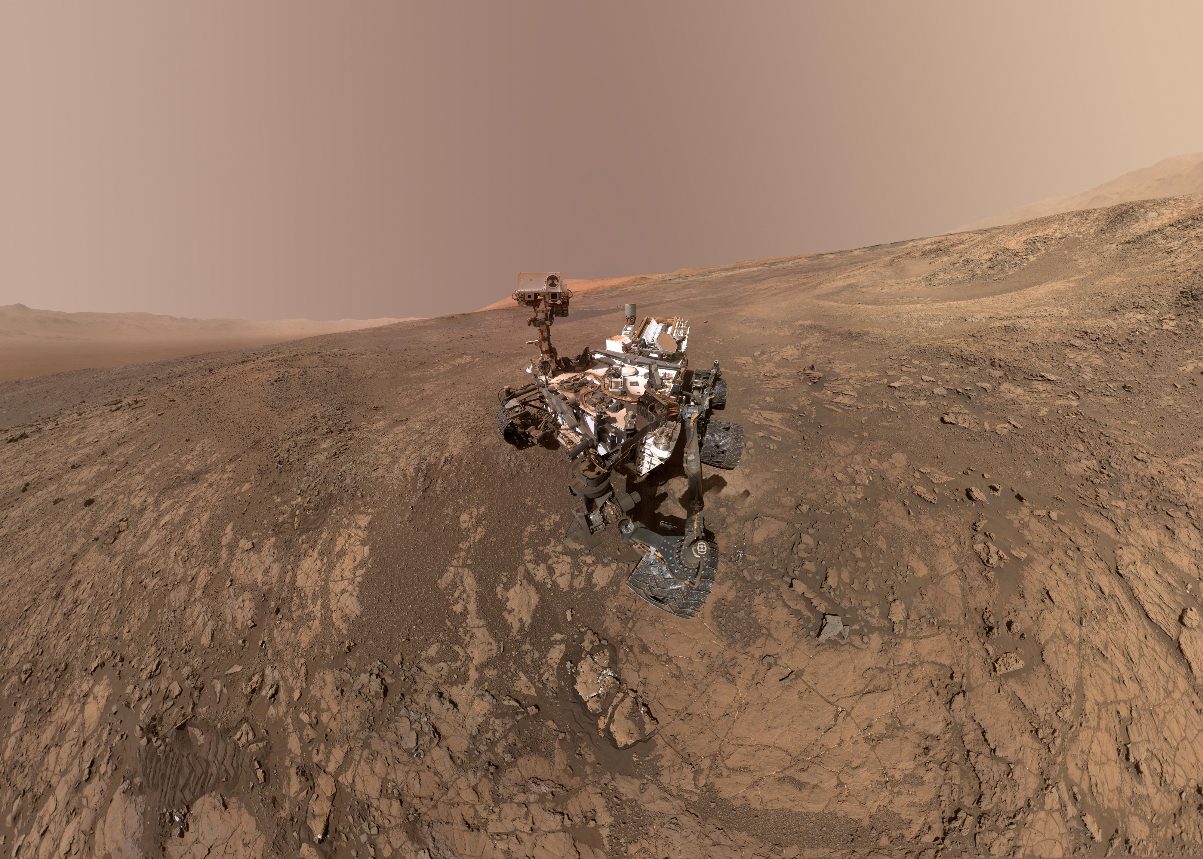 Curiosity sur Vera Rubin Ridge