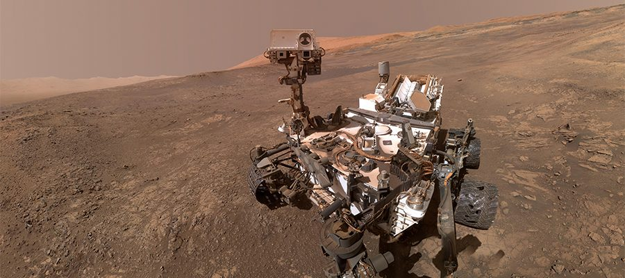 selfie de Curiosity