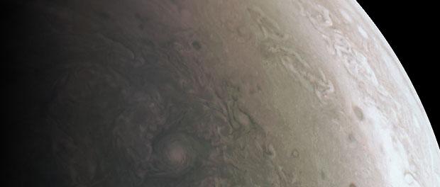 Le pôle Nord de Jupiter