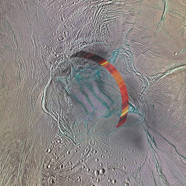 Le zone étudiée par Cassini