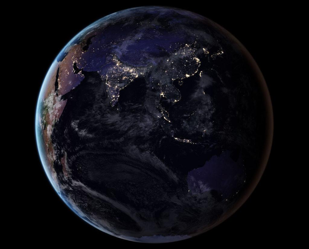 L'Europe et l'Afrique de nuit