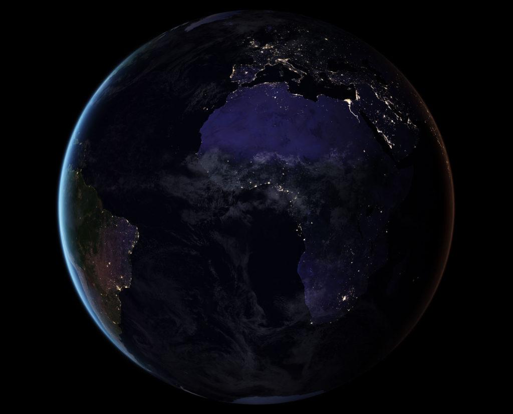 L'Asie et l'Australie de nuit