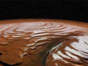 neige sur Mars