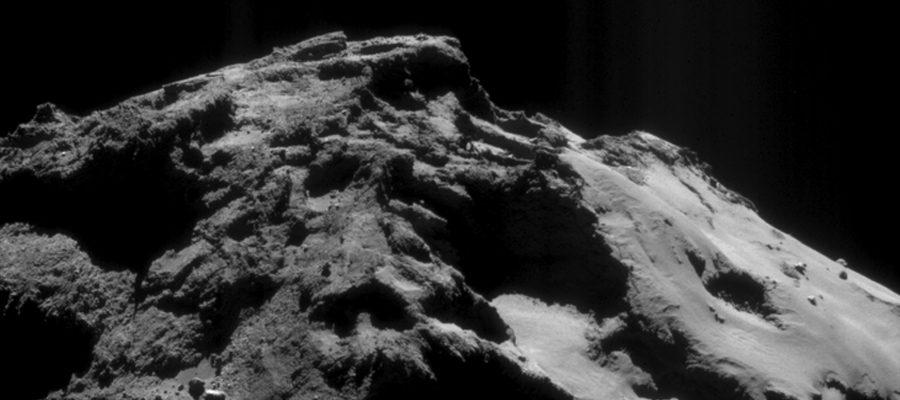 poussières de la comète Tchouri
