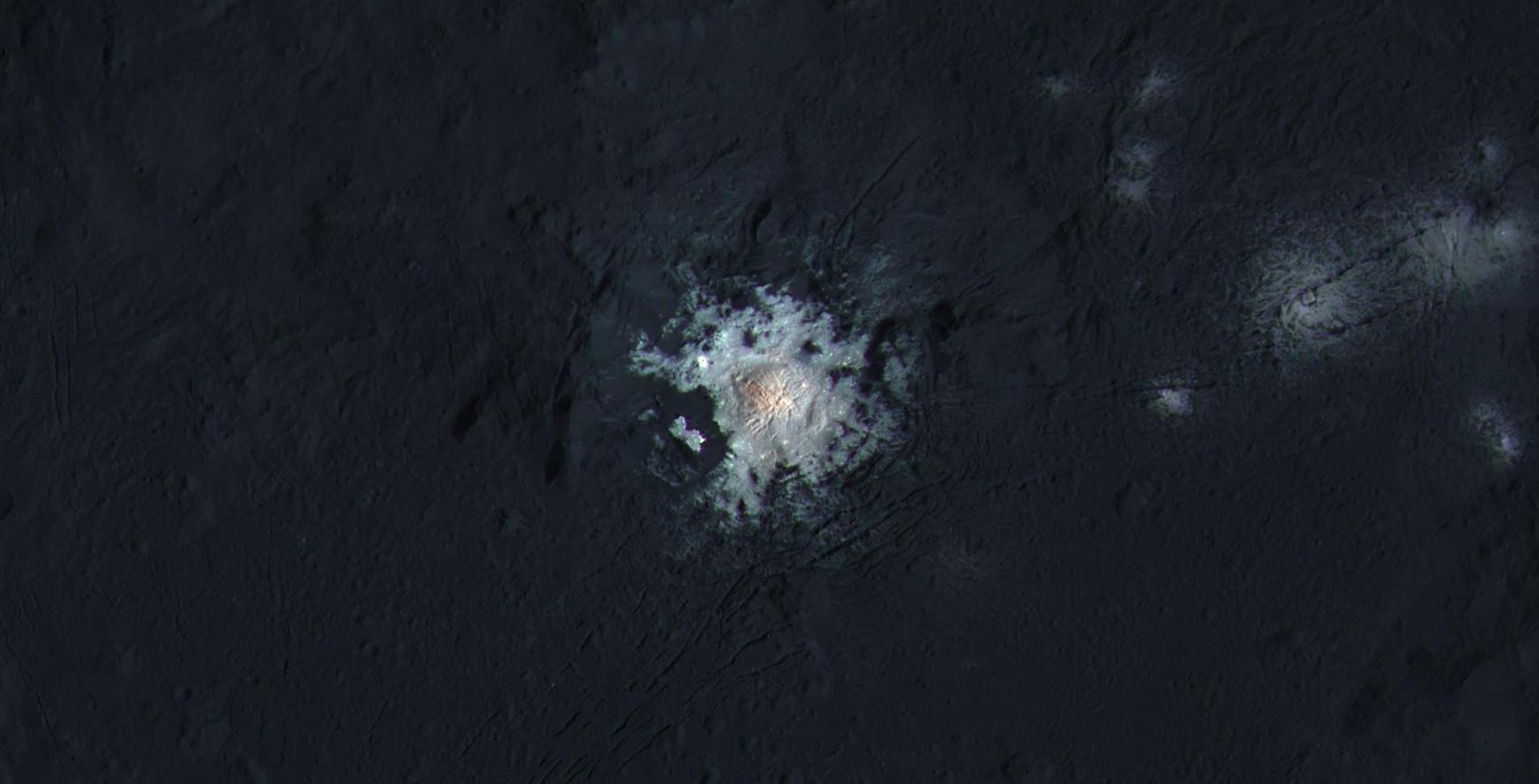 Le centre du cratère Occator