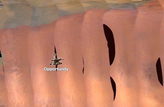 tempête sur Mars