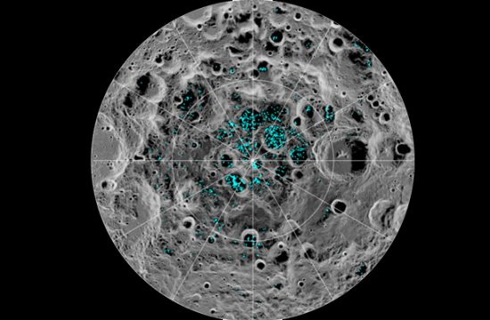 Le pôle sud de la Lune