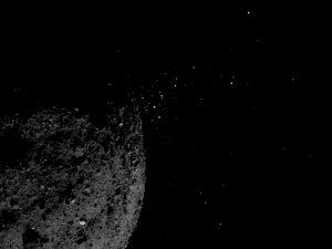 Une éjection de particules sur l'astéroïde Bennu