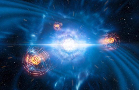 Première détection d'un élément lourd né de la collision entre étoiles à neutrons