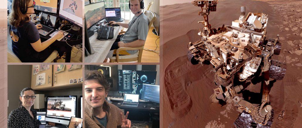 Les membres de l'équipe de Curiosity dirigent le rover de chez eux