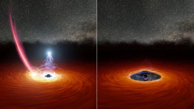 La disparition et réapparition de la couronne d'un trou noir supermassif