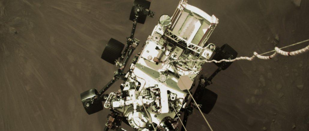 La descente et l'atterrissage du rover Perseverance sur Mars en vidéo