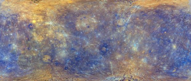 La carte de Mercure réalisée à partir des photos de Messenger