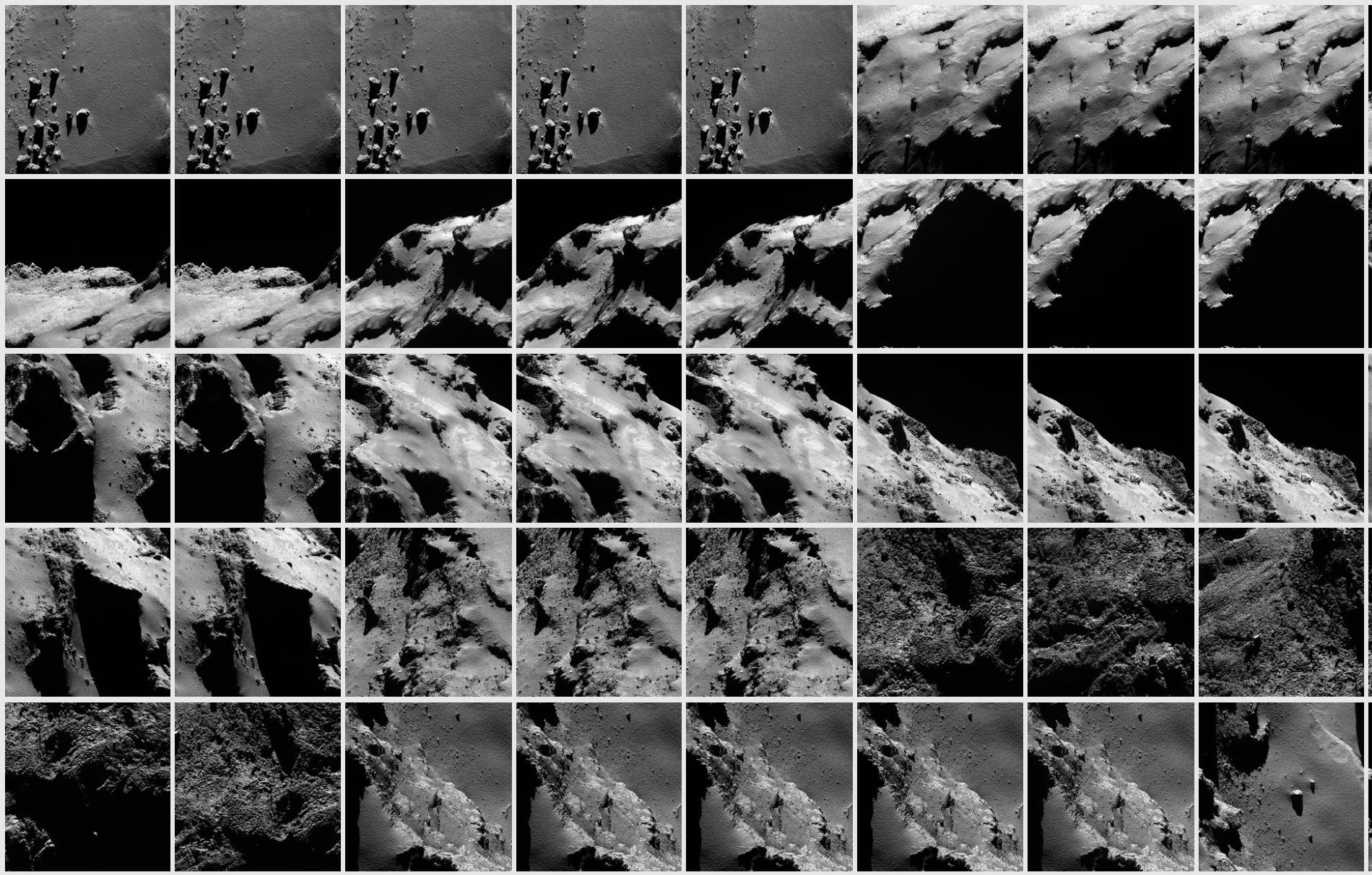 Les images de Rosetta