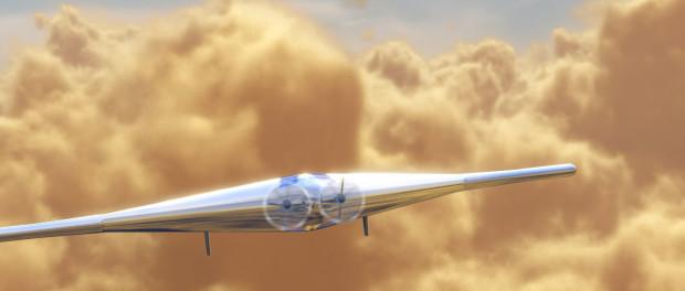 Projet d'artiste de VAMP dans l'athmopshère épaisse de Vénus. Il aura une envergure de 55m