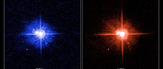 Pluton et Charon photographiées par Hubble