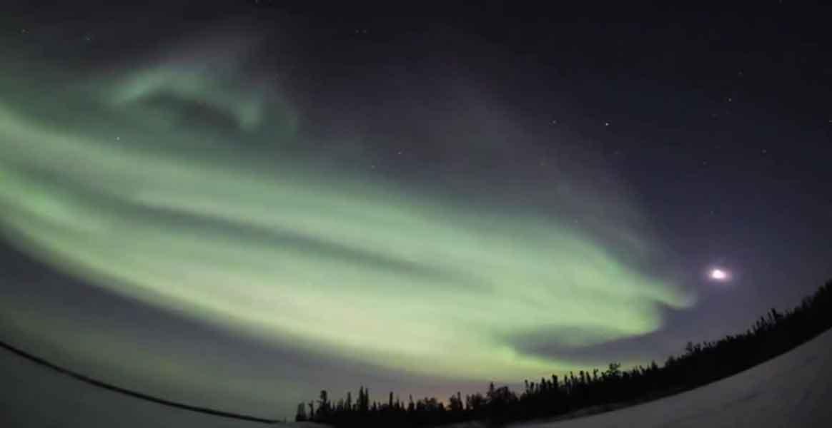 aurores boréales en vidéo