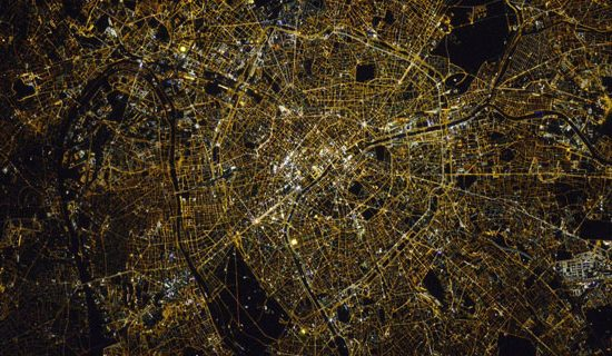Paris vue depuis la station spatiale internationale