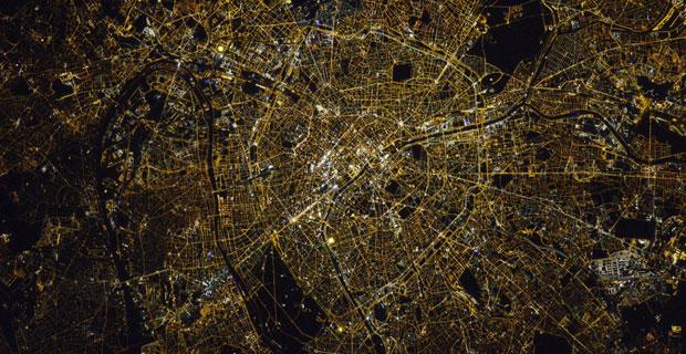 Paris vue depuis la station spatiale internationale