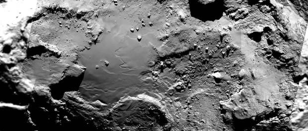 Imhotep est une région très diversifiée géologiquement. Cette image est composée de 6 photos prises par la caméra Osiris de Rosetta