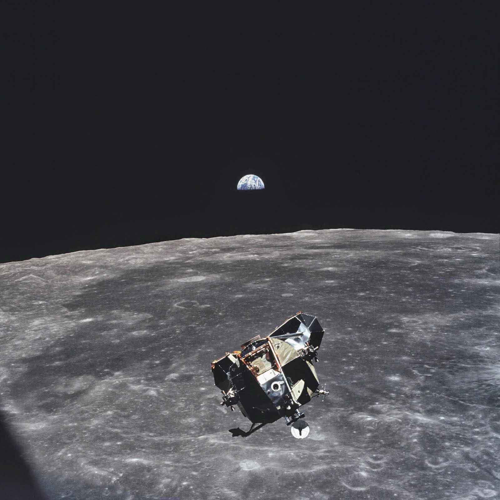 Cette image prise par Michael Collins avait fait le tour du monde. Crédit NASA