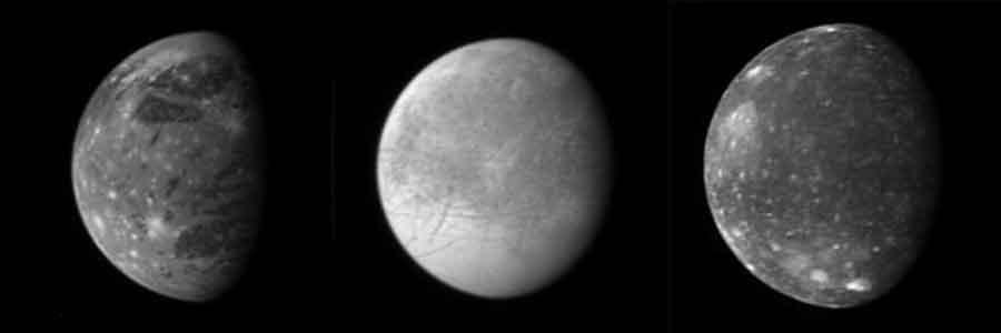 Europe - Callisto - Ganymede