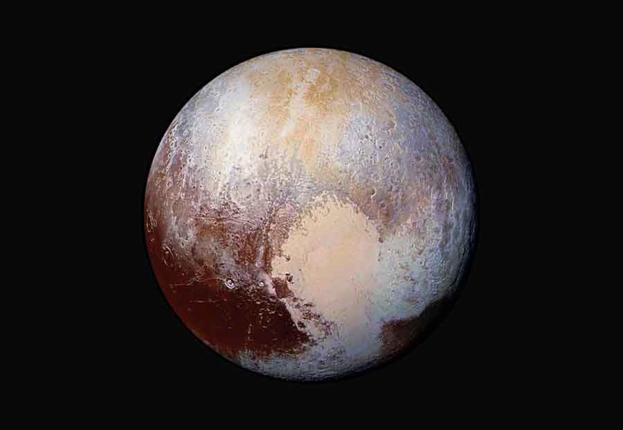 Pluton vue par New Horizons quand la sonde se trouvait à 450000 Km. (Image Credit: NASA /JHUAPL /SwRI)