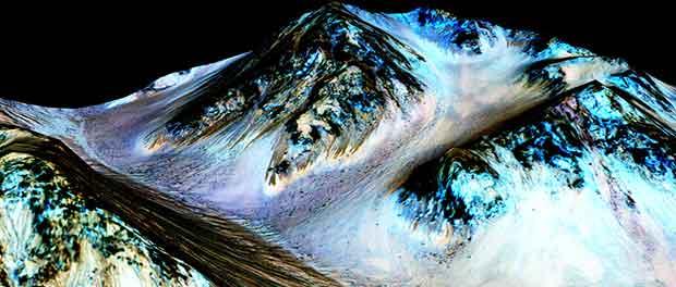 De l'eau découverte sur Mars