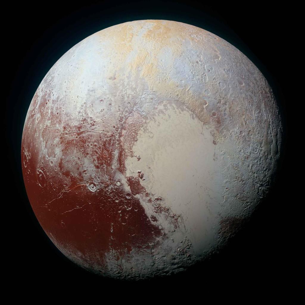 Pluton le 14 juillet dernier par New Horizons. Crédit NASA