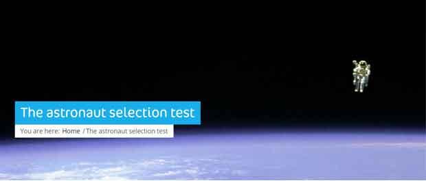 sélection des astronautes