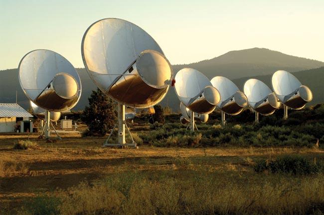 Les 350 antennes DU Allen Telescope Array n'ont rien trouvé. Crédit SETI