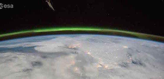 orages filmés depuis l'ISS