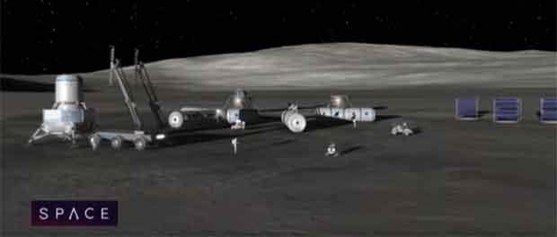 Un village sur la Lune
