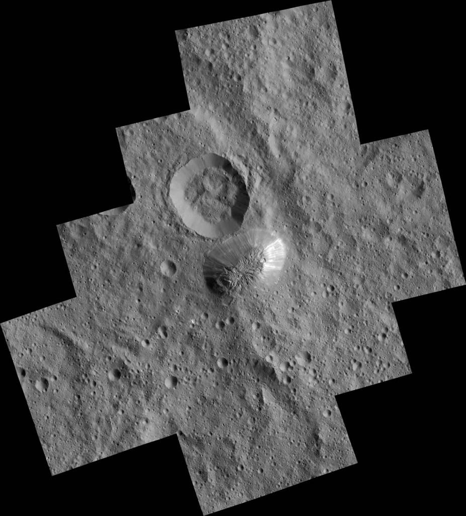 Cette mosaïque d'images a été réalisée avec les photos prises en décembre 2015 par Dawn. Crédits: NASA/ JPL/ DLR