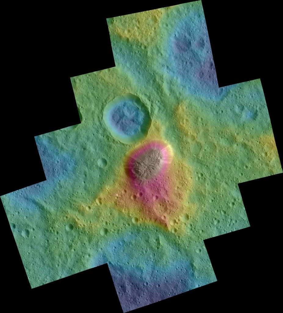 En bleu les zones les plus basses. Crédits: NASA/ JPL /DLR