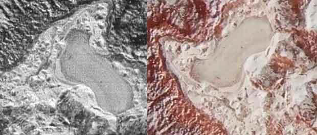 lacs sur Pluton