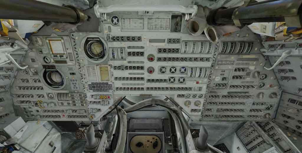 Découvrez l'intérieur d'Apollo 11. Crédits: The Smithsonian