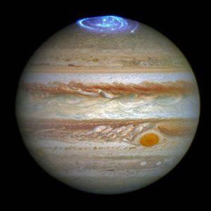 Les aurores boréales de Jupiter. Crédits NASA/ESA