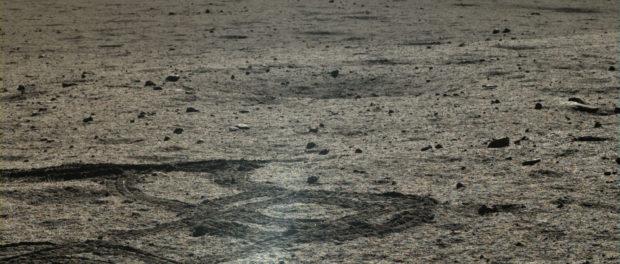 Une des images prise le Lapin de Jade. Il ne roulera plus sur la Lune. Crédit: The Planetary Society.