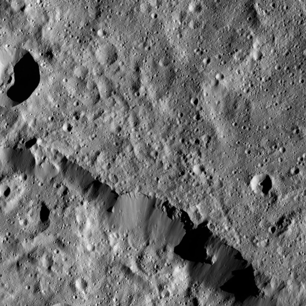 the northern rim of Urvara Crater