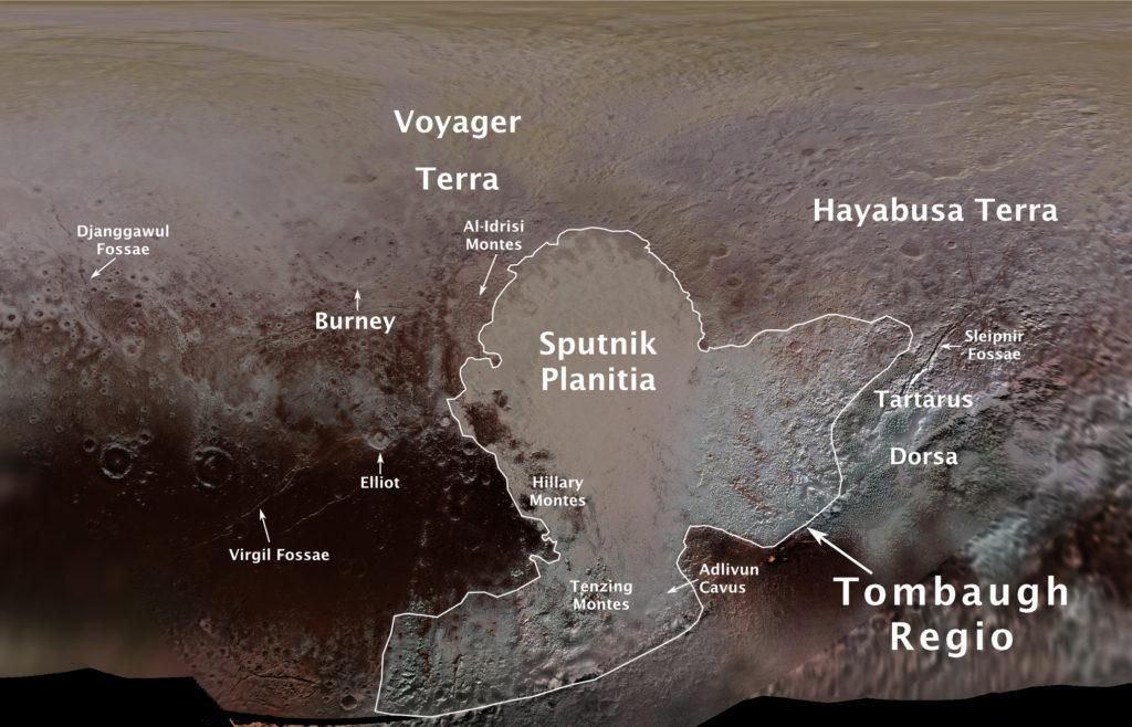 La carte officielle de Pluton