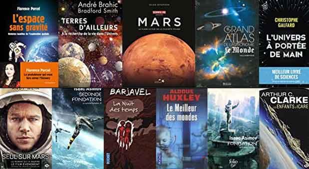 Retrouvez notre choix de livre sur l'astronomie, l'exploration spatiale mais aussi la science-fiction