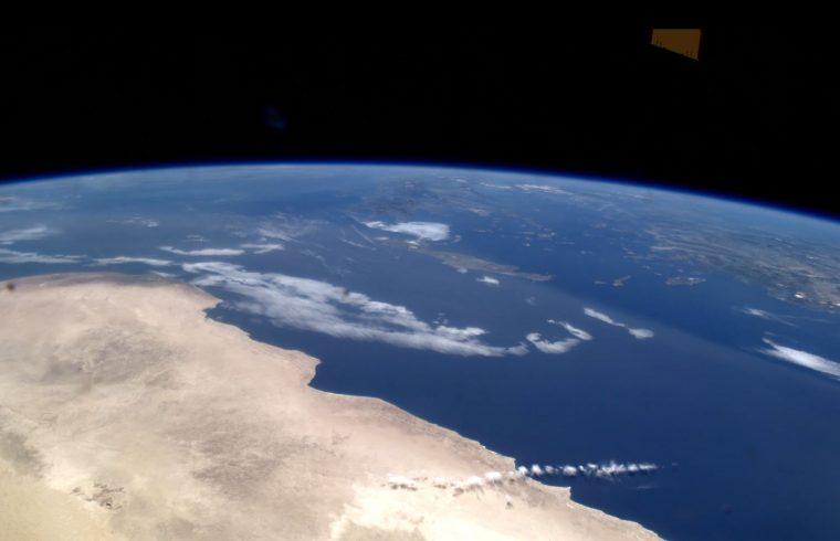 La terre depuis la station spatiale internationale