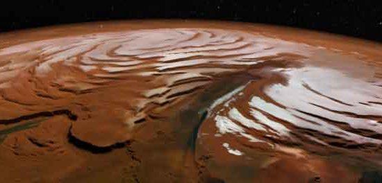 La calotte glaciaire de Mars
