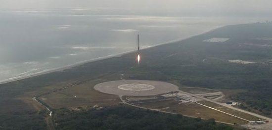 L'atterrissage du Falcon 9 en vidéo