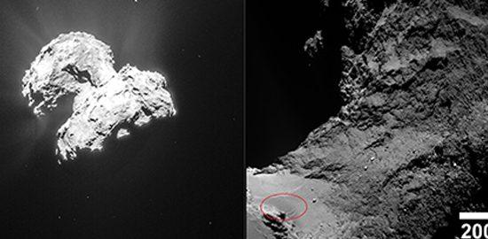 Les dunes de la comète Tchouri