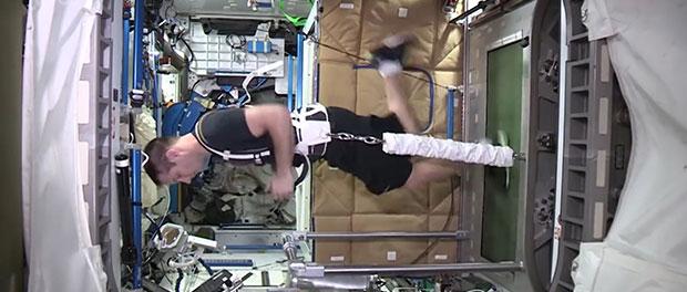 salle de sport de l'ISS