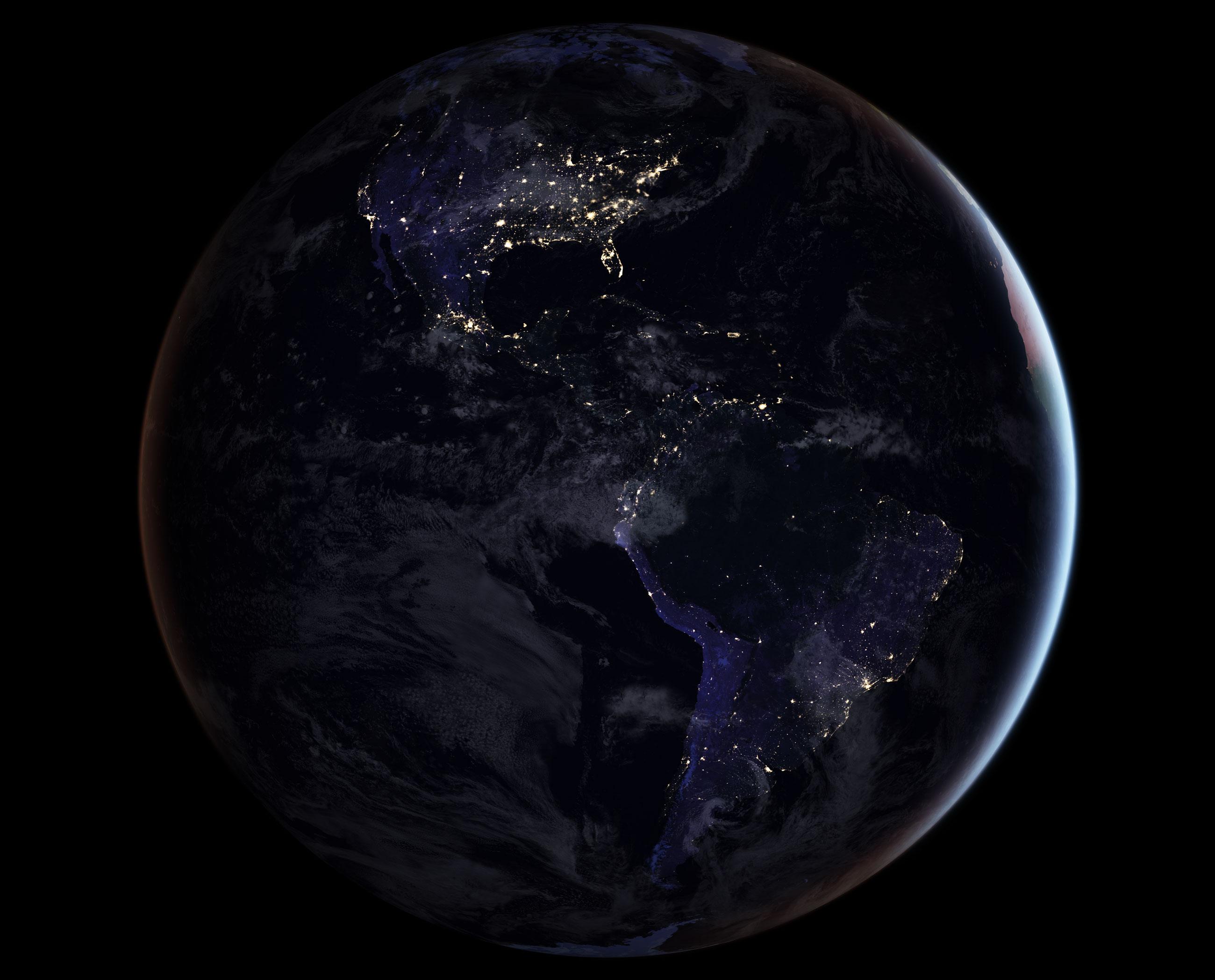 Le Continent Americain De Nuit