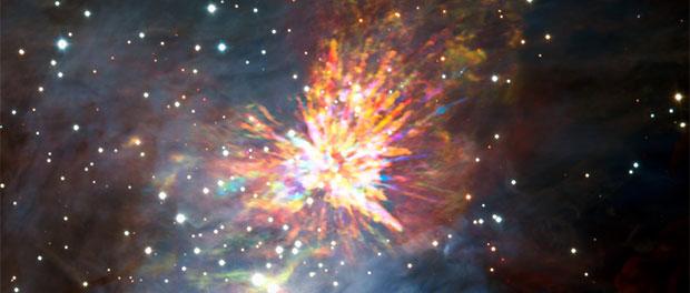 feu d'artifice stellaire
